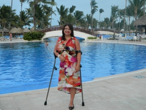 Punta Cana, DR after a relaxing day in the pool with my husband