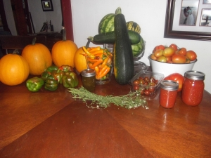 Harvest from one of our gardens