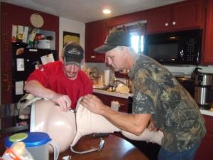 Fixing my leg...A FAIL I might add!