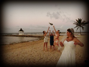 Because of my love for the beach prior to having my amputation I still mustered the courage to be married on one!