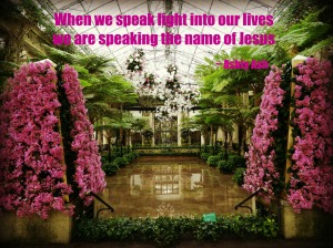 when we speak light we speak jesus