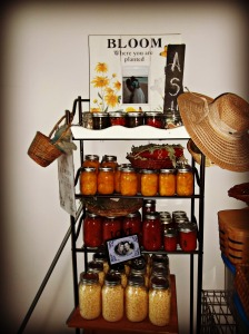 A Sampling of my first canning year proudly on display