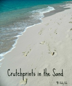 crutchprints in the sand